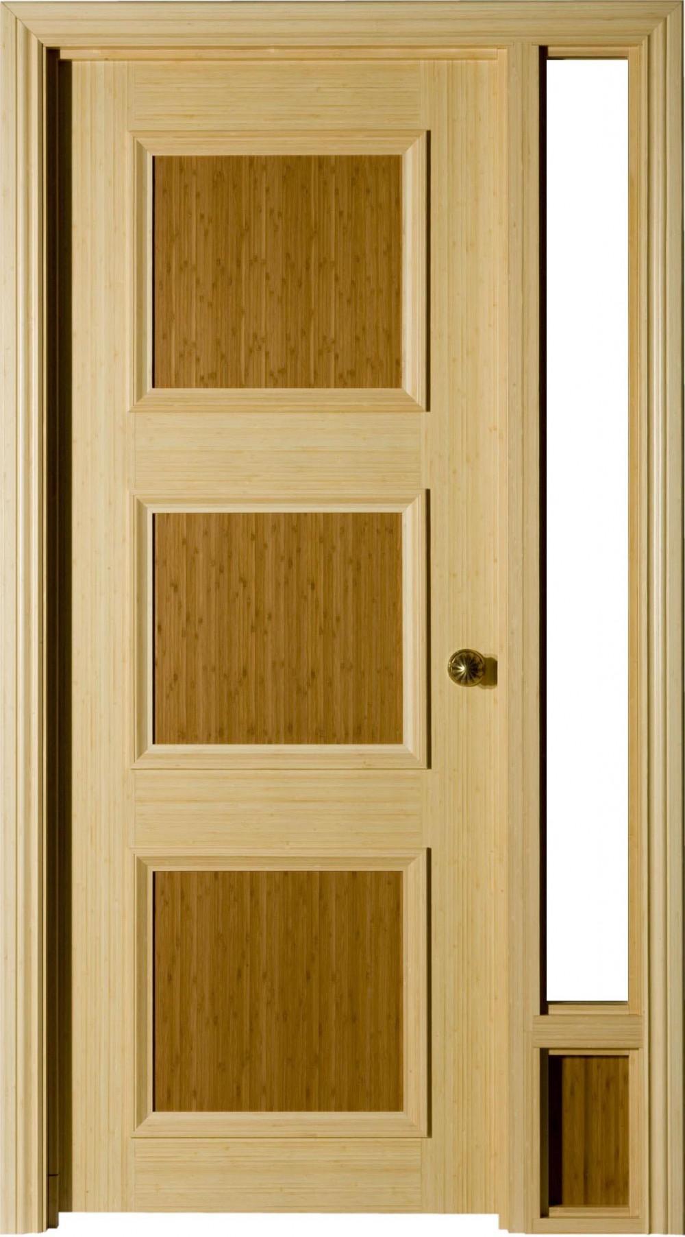 Natural Bamboo & Porte simple bambou naturel avec ouverture | Lambton Doors